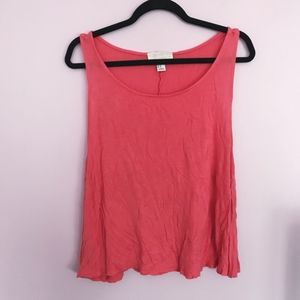 Forever 21's Coral Cropped Tank Top Sz 2X